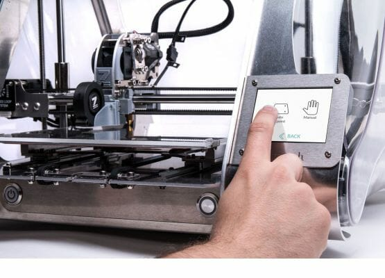 Control de la impresora 3D Zmorph VX con pantalla táctil LCD